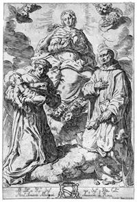 vergine in gloria con sant'antonio da padova e san nicola albergati by lorenzo loli