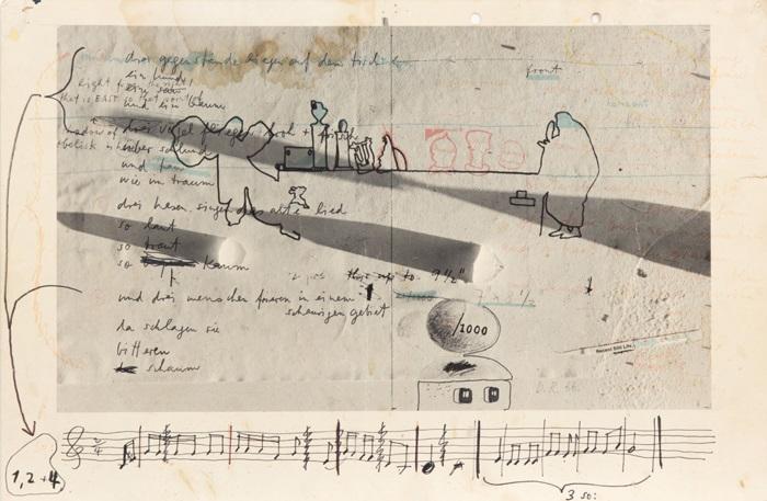 übermalung Mit Gedicht By Dieter Roth On Artnet