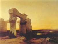 an egyptian temple by jacob jacobs