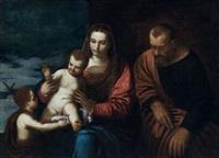 la sainte famille avec saint jean-baptiste enfant by alessandro varotari
