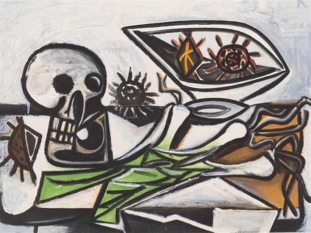 Nature Morte, Crâne et Oursins by Pablo Picasso on artnet