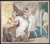 the duenna outwitted by thomas rowlandson