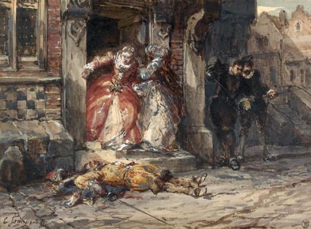 le duel by louis gabriel eugène isabey