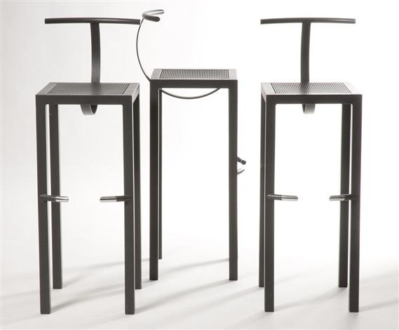 Chaises de bar Sarapis set of 3 by Philippe Starck on artnet on