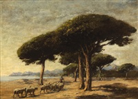 stone pines, near cannes, france by nathaniel hone the younger