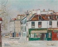 rue saint eleuthère, montmartre by maurice utrillo