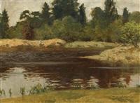 fishing on river shiel by norman wilkinson