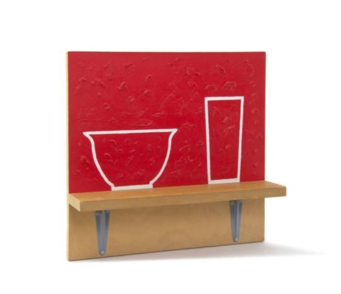 red bowl and red glass by b wurtz