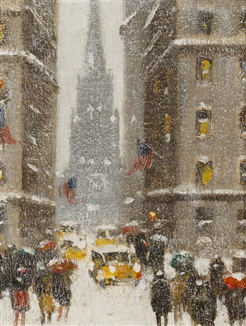 wall street at the sub treasury by guy carleton wiggins