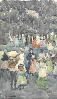 picnic party by maurice brazil prendergast