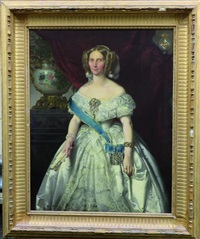 portrait de dame de qualité by victor louis mottez