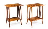 art nouveau marquetry occasional tables by louis majorelle