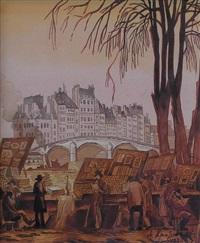 les bouquinistes by aleksei ilych kravchenko