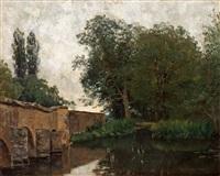 gamla bron i grez by oscar törnå
