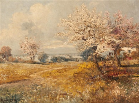 blossoming orchard by rudolf weber