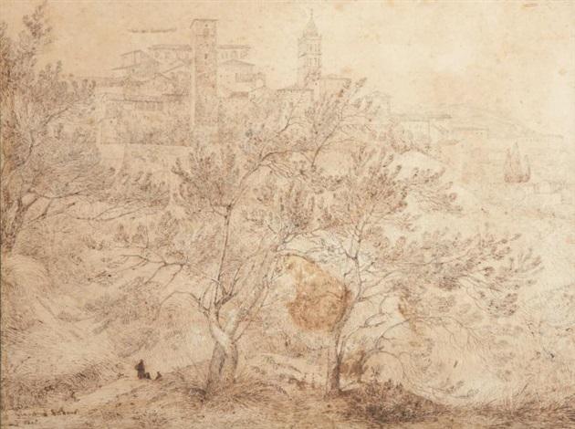 paysage ditalie by françois marius granet