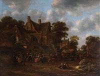la fête de village by klaes molenaer