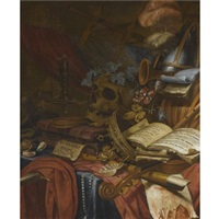 a vanitas still life by vincent laurensz van der vinne the elder