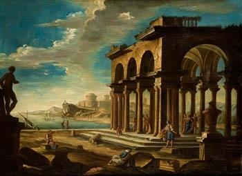 personajes en ruinas clásicas by bernardo bellotto