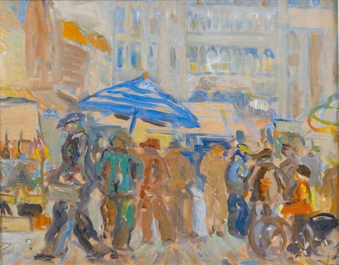 the market bruges by peter lanyon