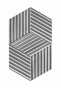 supertificie a testura vibratile - due cubi virtuali by getulio alviani