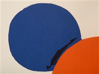 cercles noir, bleu, rouge by alexander calder