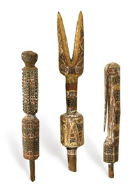 untitled (miniature tutini)(+ 2 others, various sizes; 3 works) by anonymous-aborigine