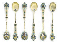 spoons (set of 6) by antip ivanovich kuzmichev