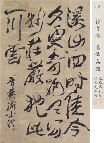 溪山草书帖 by xu wei