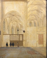 the north transept and choir chapel of the sint janskerk, utrecht by pieter janz saenredam