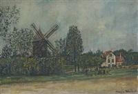 le moulin du bois de boulogne by maurice utrillo