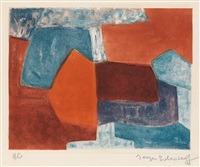 composition rouge et bleue by serge poliakoff