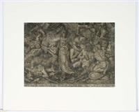 victoria umgeben von gefangenen und trophäen des krieges by frans floris the elder
