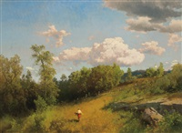 harvest landscape by hermann herzog