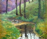lesní zákoutí s potokem by frantisek kavan