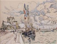 le port d'honfleur by paul signac