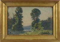 paysage de forêt by maximilien luce
