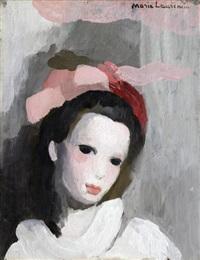 portrait de femme au ruban rose by marie laurencin