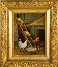 chicken in barnyard by howard l. hill