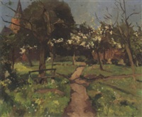 a view of 's graveland in springtime by jacob ritsema