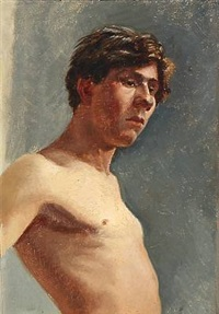 study of a male model by emilie (caroline e.) mundt