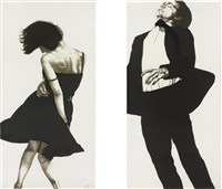 meryl and jonathan, from men in the cities (set of 2) by robert longo