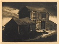 old barns by dox thrash