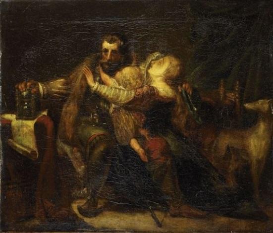 Scène troubadour dans un intérieur by Richard Parkes Bonington on artnet