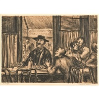 café du dome by reginald marsh