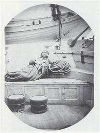 femme de la famille mick-macks (sur le gaillard d'arrière de l'ardent) by paul-emile miot