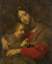 vierge à l'enfant tenant un globe by cesare dandini