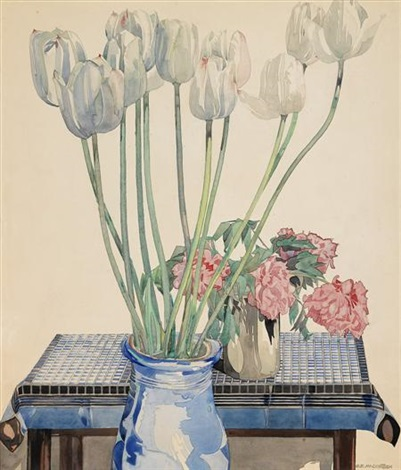 white tulips by charles rennie mackintosh