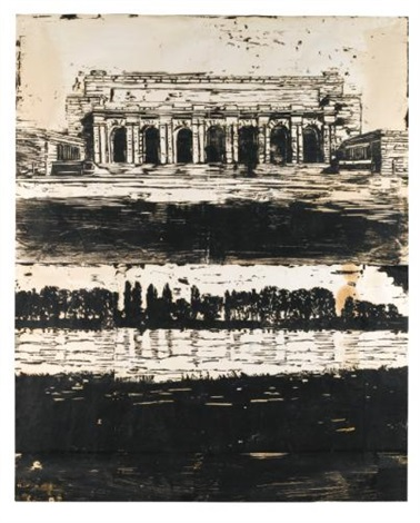 untitled monument on river by anselm kiefer