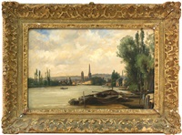 view of the seine by charles françois daubigny